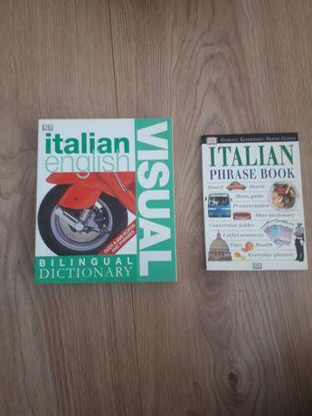 Książki do nauki języka włoskiego słownik obrazkowy oraz rozmówki