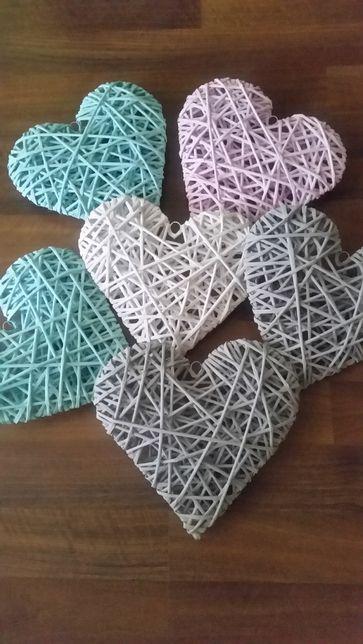 Serce z wikliny papierowej 23 cm