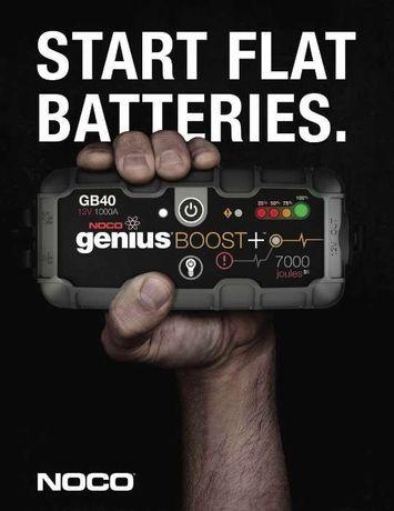 Booster bateria NOCO Genius GB40 motores gasolina até 6 L e gasóleo 3L