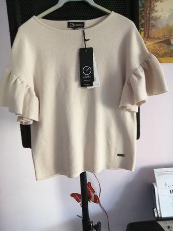 Dzianinowa bluzka by Baczyńska NOWA S / M swetr ecru