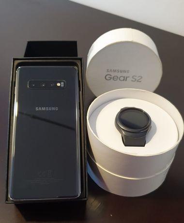 Samsung S10+ com smartwatch Samsung Gear S2