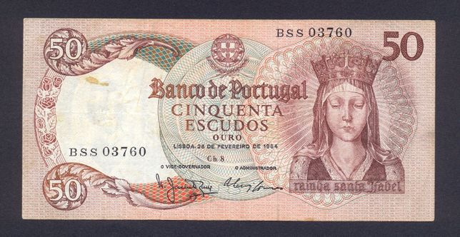 Banknot Portugalia 50 Escudos z 1964 r rzadki