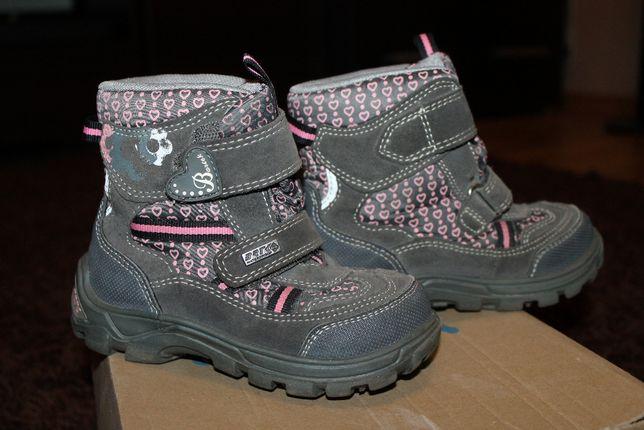 Buty zimowe firmy BARTEK dla dziewczynki rozmiar 25
