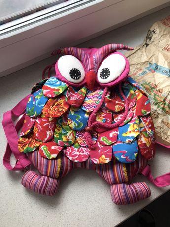 Plecak plecaczek sowa sówka ręcznie szyty kupiony w Grecji na Krecie