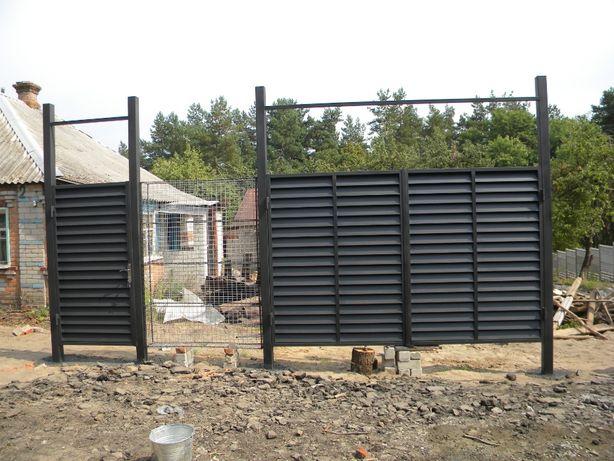 Ворота, калитки, заборы блок хаус (block house)