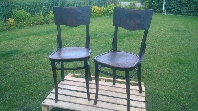stare krzesła gięte antyki