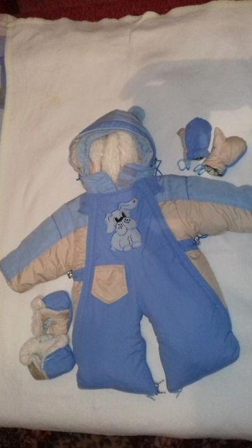 Дитячий зимовий комбінезон-трансформер 68-74см, Детский комбинезо