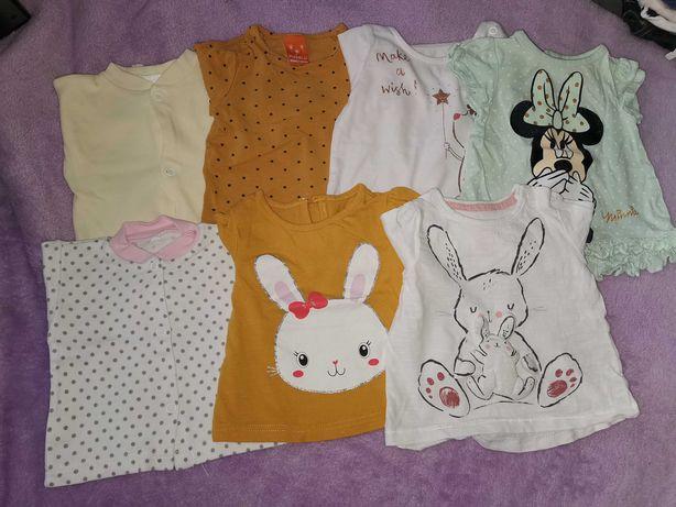 Bluzeczki, koszulki dziewczęce H&M rozmiar 62
