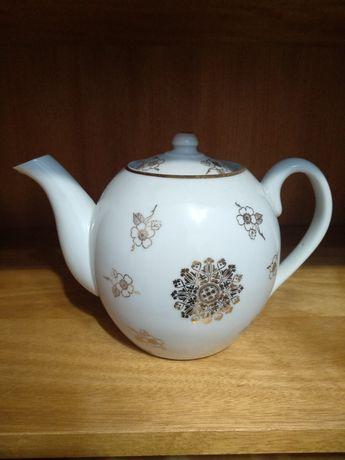 Чайник Заварник фарфоровый с позолотой 1.25 литра