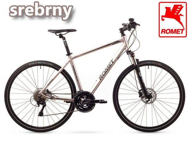 """Romet Orkan 5 28"""" rower crossowy deore rama 19 lub 21 srebrny AIR"""