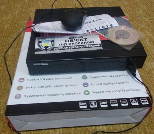 IP видеорегистратор H.265+ ULTRA HD NVR-08 POE. Видеонаблюдение.