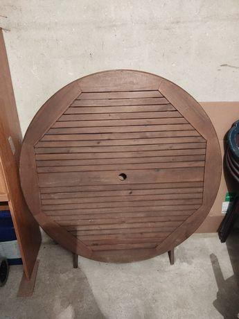 Stół ogrodowy drewniany 110 cm