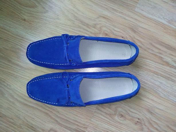 Mokasyny męskie PIER ONE BLUE niebieskie rozmiar 41/42