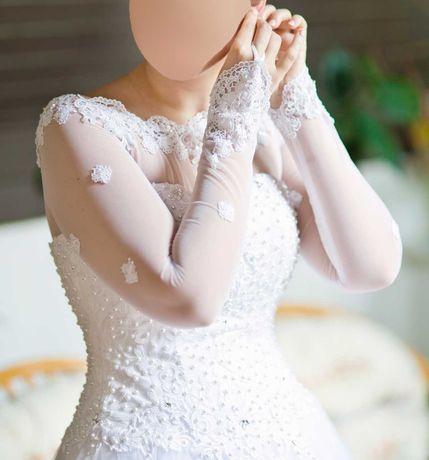 Suknia ślubna biała rozmiar 38