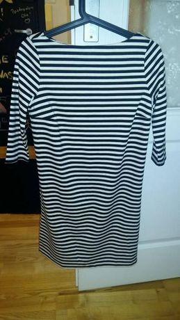 Sukienka w paski biało czarne rozmiar XS nowa