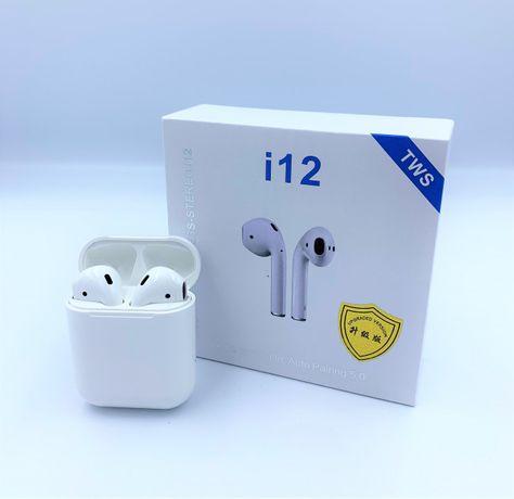 Беспроводные Bluetooth наушники UTG-T I12 TWS белые (Наушники AirPods)