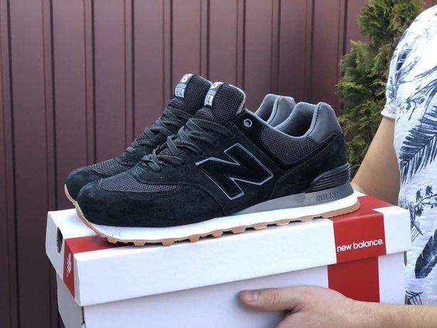 Кроссовки New Balance 574 черные Нью Беланс мужские черные кроссовки