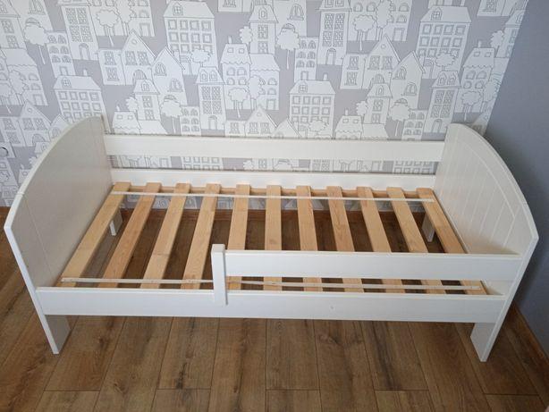 Łóżko dziecięce 160 x 80 cm białe, drewniane 160x80 80x160