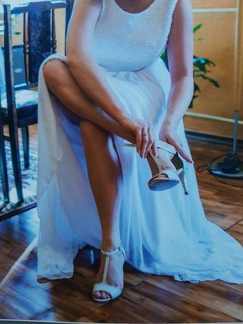 Suknia ślubna , biała, unikatowa