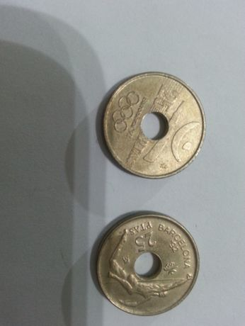 moedas 25 pesetas barcelona 92