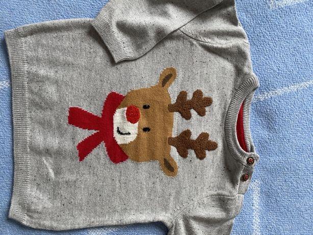 Świąteczny sweterek  H&M r.74