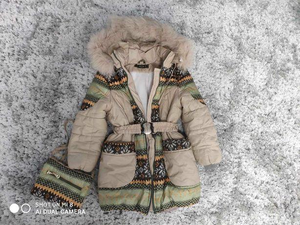 Куртка зимняя на девочку 34р
