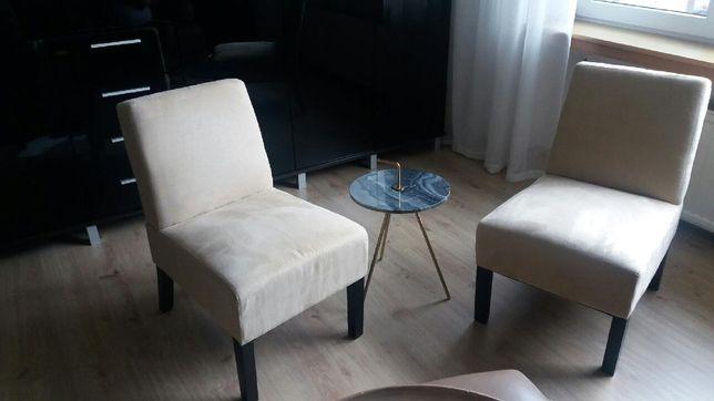 Fotele krzesła beżowe NOWE