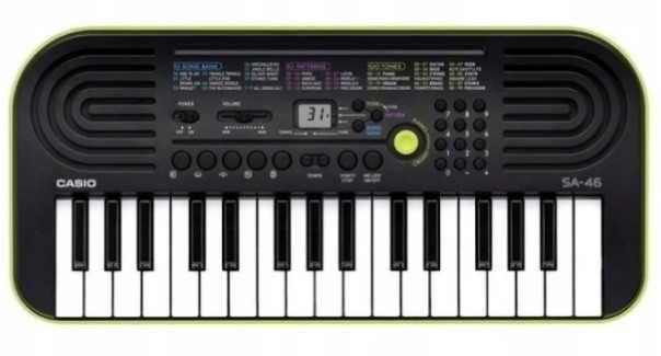 Keyboard Casio SA-46, do nauki gry dla dzieci
