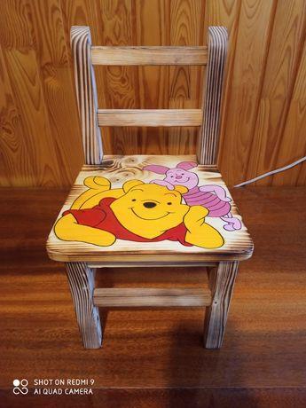 Krzesełko dla dziecka drewniane