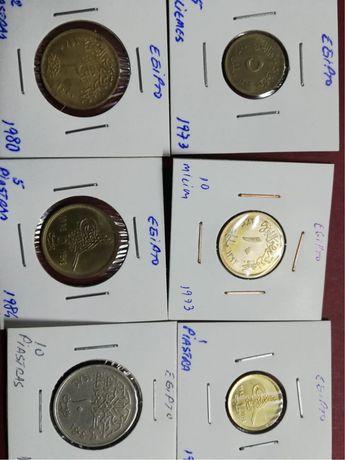 6 moedas de Egipto