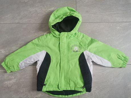 Kurtka zimowa narciarska 86 92 Lupilu zielona neonowa chłopięca