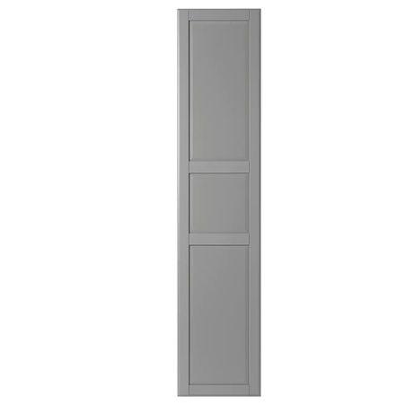 Dwa skrzydła nowych drzwi TYSSEDAL szare IKEA