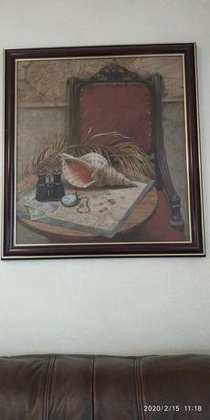 "Картина, холст масло ""натюрморт на карте"" Александр Мирзин"