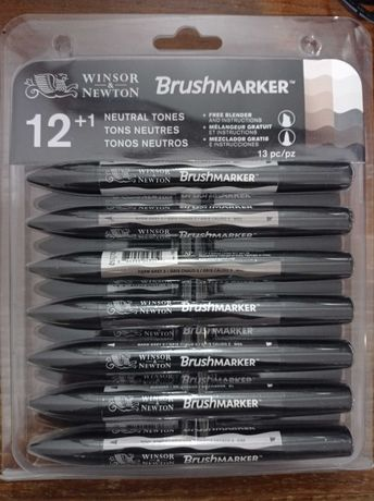 Brush Markers Neutral Tones - Marcadores de álcool da Winsor & Newton