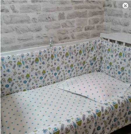 Качественные наборы в кроватку, бортики и постельный комплект, хлопок