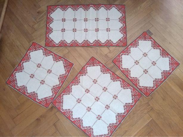 Комплекты салфеток ручная вышивка