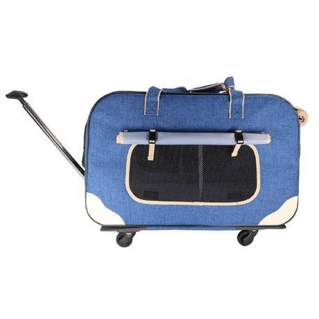 TRANSPORTER DODOPET Pet Dog Carrier z kółkami biebieski