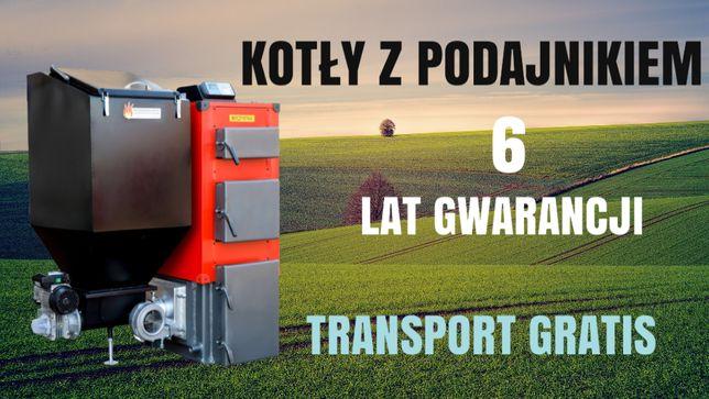 KOTLY do 45 m2 Piec 7 kW na EKOGROSZEK Kocioł z PODAJNIKIEM 4 5 6