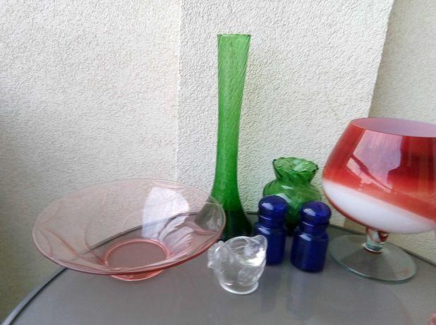 Patera wazon butelka szkło cukiernica Ząbkowice