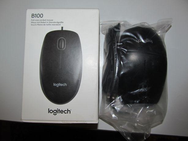 Мишка Logitech B100 USB Black (Оригінал) НОВА