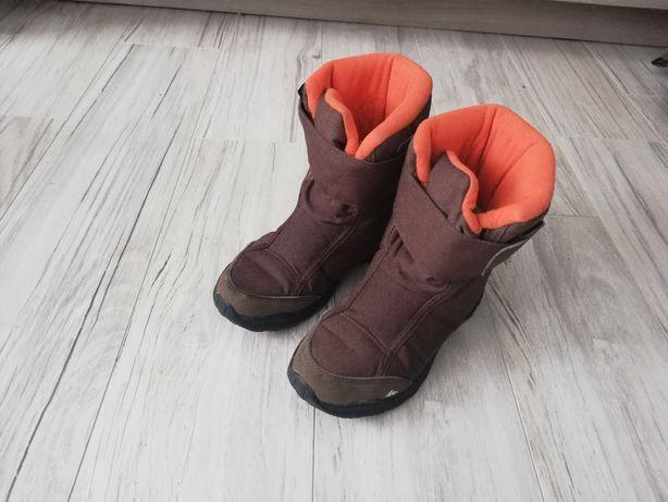 Buty zimowe brązowe