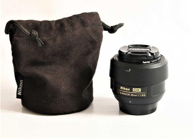 Lente Nikon 35mm f\1.8 DX em excelente estado