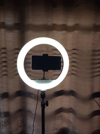 Кільцева лампа 30 см + штатив 2 м