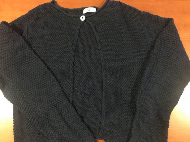 Casaco de algodão azul marinho tam 10 anos