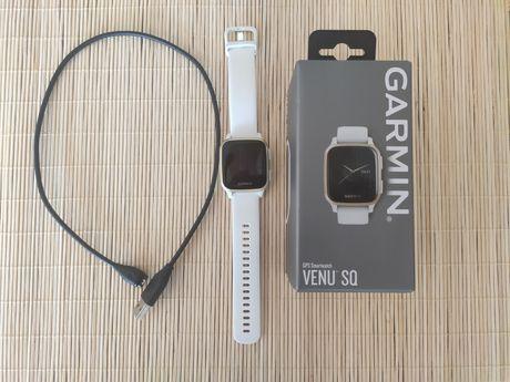 Garmin Venu SQ biało złoty smartwatch zegarek biały GPS