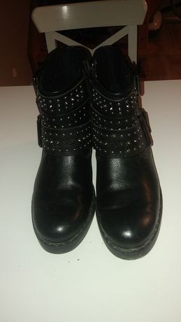 Czarne buty/botki/ćwieki graceland Deichmann rozm 39