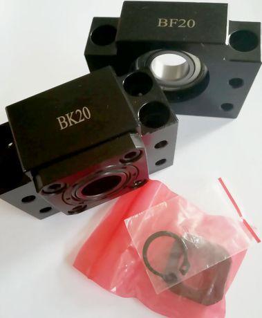 BK20 BF20 Кінцева опора підшипника для ШВП 2510 2505, концевая опора