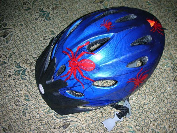 Шлем взрослый велосипедный с паучками (р.52/54) или обмен