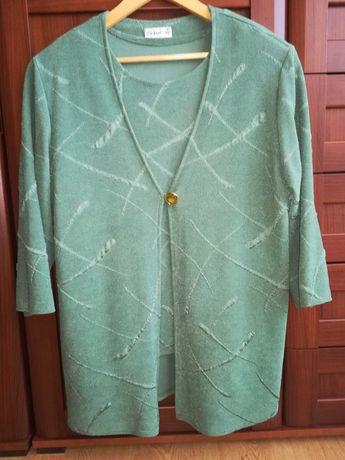 Komplet damski garsonka bluzka i narzutka/żakiet