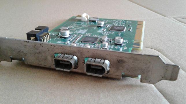 Placa PCI USB Firewire IEEE 1394 (2 portas)
